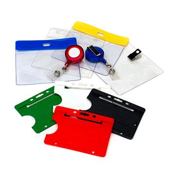 Pochettes en plastique et  porte-cartes